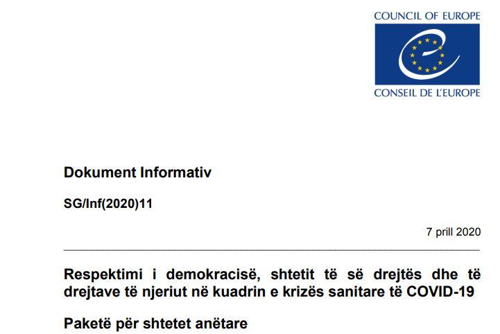 COVID19/ ECRI i rekomandon autoriteteve shqiptare një paketë informuese mbi të drejtat e Njeriut